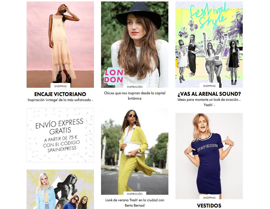 ASOS Web - Marketing de Moda - Marketiniana