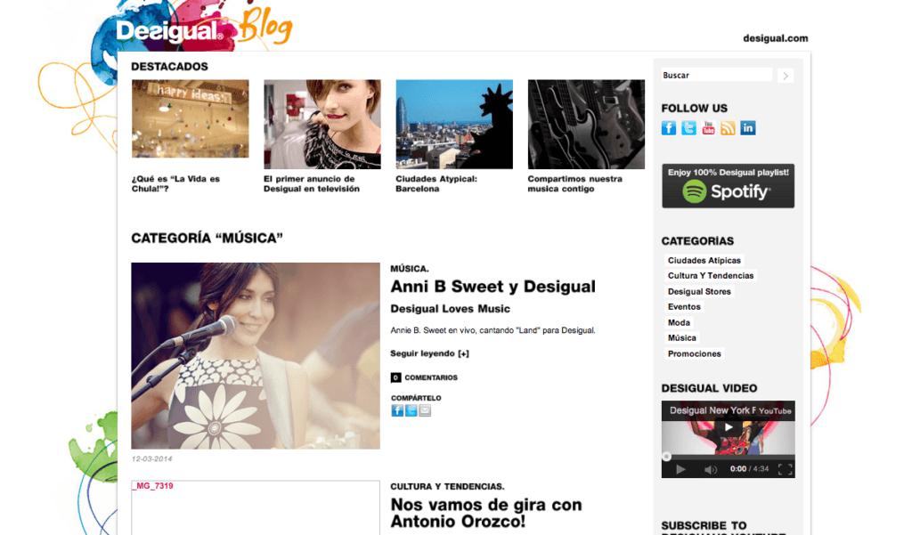 Desigual Blog - Marketing de Moda - Marketiniana